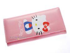 B034 HelloKitty Pink Girl Lady Long Bifold Wallet Coin Bag Card Holder Purse