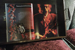KEITH-RICHARDS-8-page-magazine-article-SHATTERED-colour-pics-amp-great-cover-1992