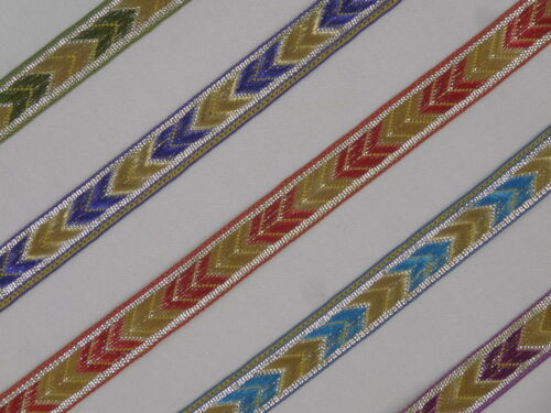 """6 Yd Jacquard Trim 0.5/"""" wide Woven Border Sew Embroidered Ribbon Lace T904"""