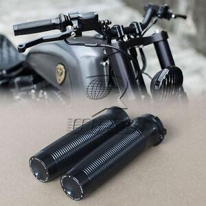 black rough crafts 1 handlebar grips f harley sportster. Black Bedroom Furniture Sets. Home Design Ideas