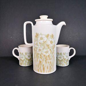 Hornsea-Pottery-Fleur-Coffee-Tea-Pot-And-2-Mug-Set-Crockery-Vintage-Retro