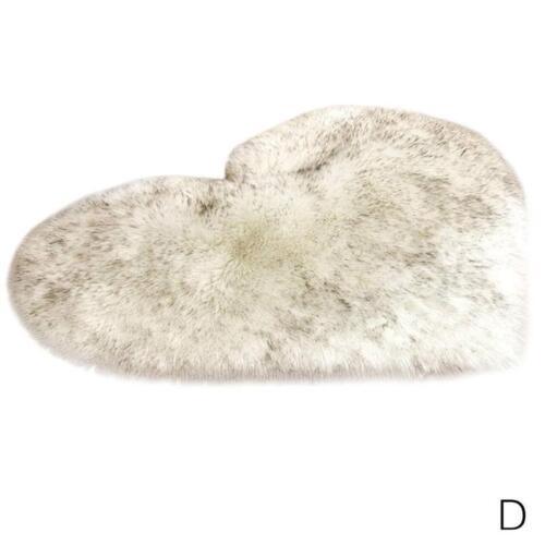 Wolle Nachahmung Schaffell Teppiche Faux Fur Rutschfeste Schlafzimmer Shagg R4K8