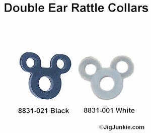 DOUBLE-EAR-SILICONE-JIG-RATTLE-COLLAR-BANDS-SHIPS-FROM-USA
