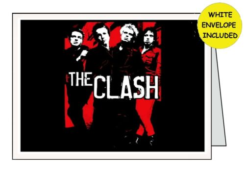 The Clash Personalised Handmade Carte.. toutes occasions anniversaire anniversaire ouvert