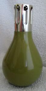 LAMPE-BERGER-034-AMPOULE-034-porcelaine-couleur-olive-complete-amp-BE