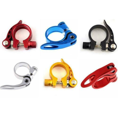 Aluminum Alloy UK Clamp Bike Cycling MTB Seat Post Quick Release Saddle Clip