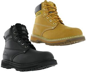 Groundwork-Mens-Leather-Safety-Steel-Toe-Cap-Work-Boots-Shoes-UK4-13