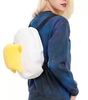 Sanrio LOUNGEFLY Gudetama Lazy Egg Plush Backpack BAG Purse Valentines Gift