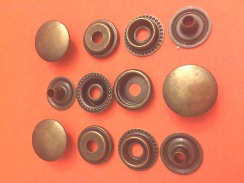 "5//8/"" 50 Set 15 mm Poppers Snap Fastener Ring Socket Antique Brass"