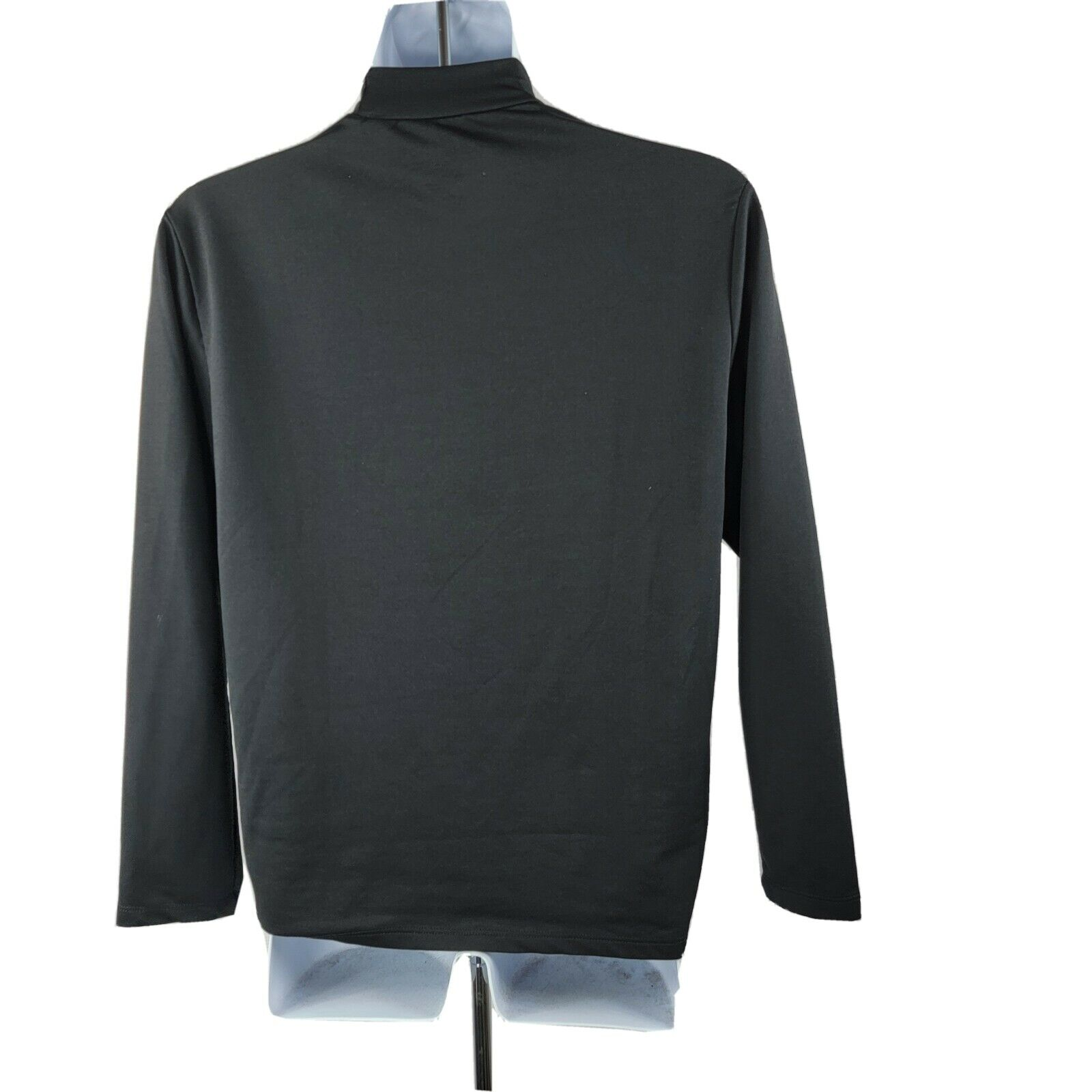 Dickies Long-Sleeve Pullover Performance T-Shirt Medium Black Stretch