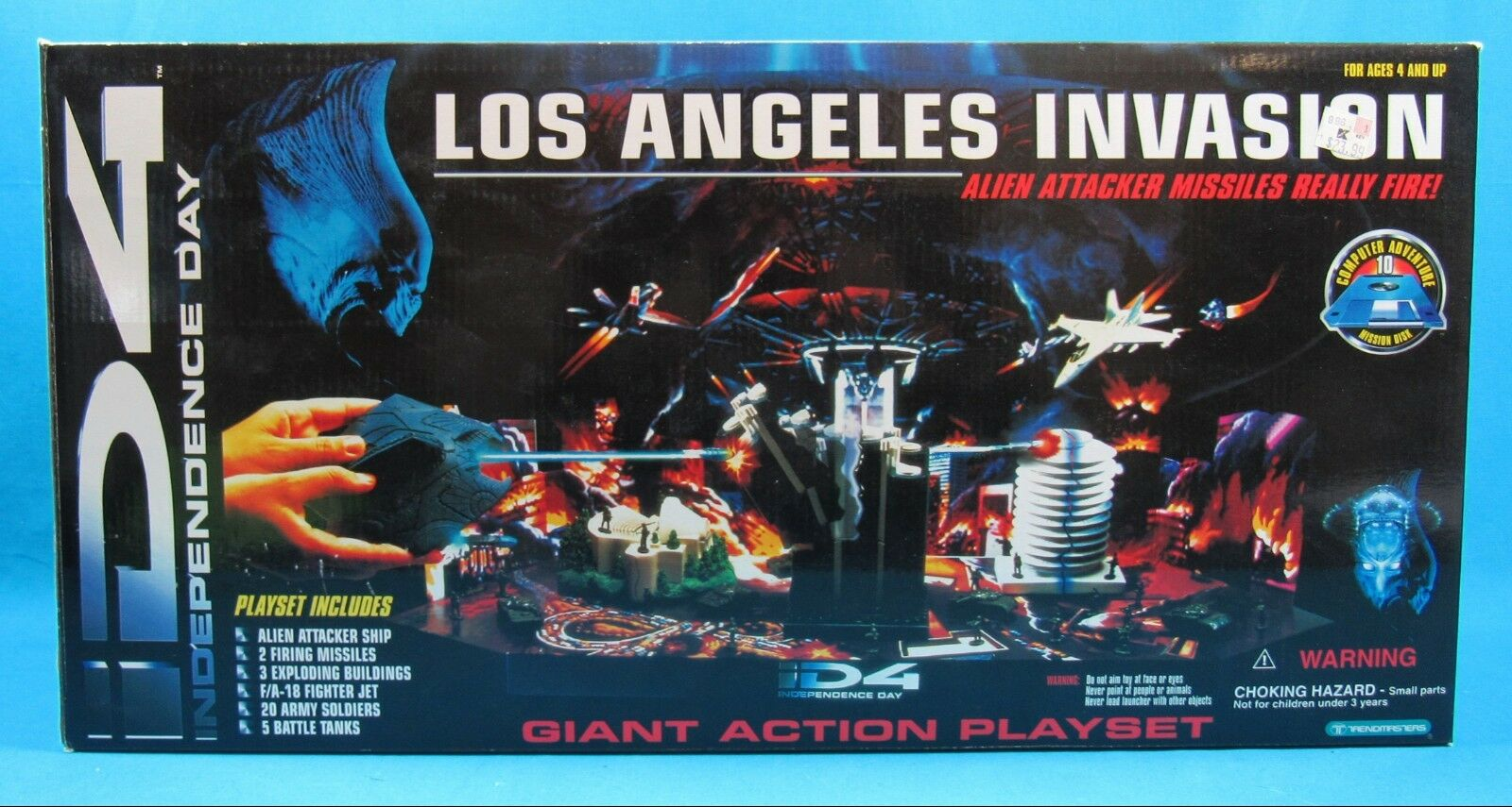 ID4 Independence Day Los Angeles Invasion Giant Giant Giant Action Playset 1996 with Box 3cf45c