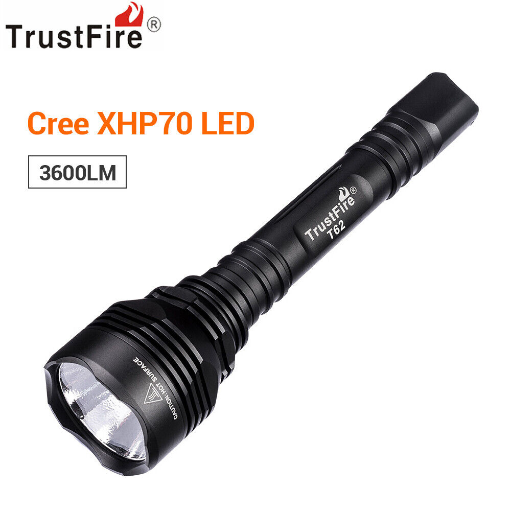 TrustFire T62 3600 LuSies Flashlight Torch Floodlight for Hunting Gun-Mounted