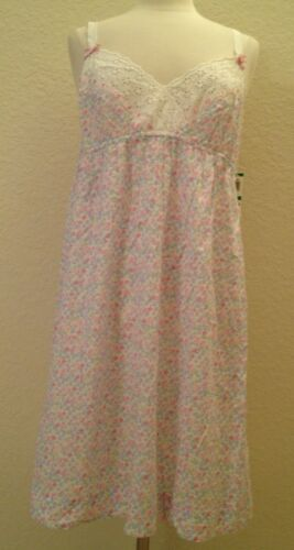Charter Club Embellished Short Gown 13486 Pink Shadow Butterfly Medium