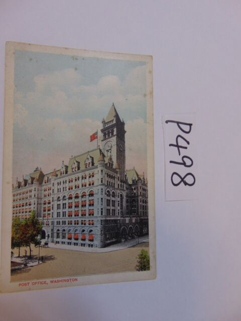 VINTAGE POSTCARD UN-POSTED WASHINGTON DC POST OFFICE PENNSYLVANIA AVE.1900'S