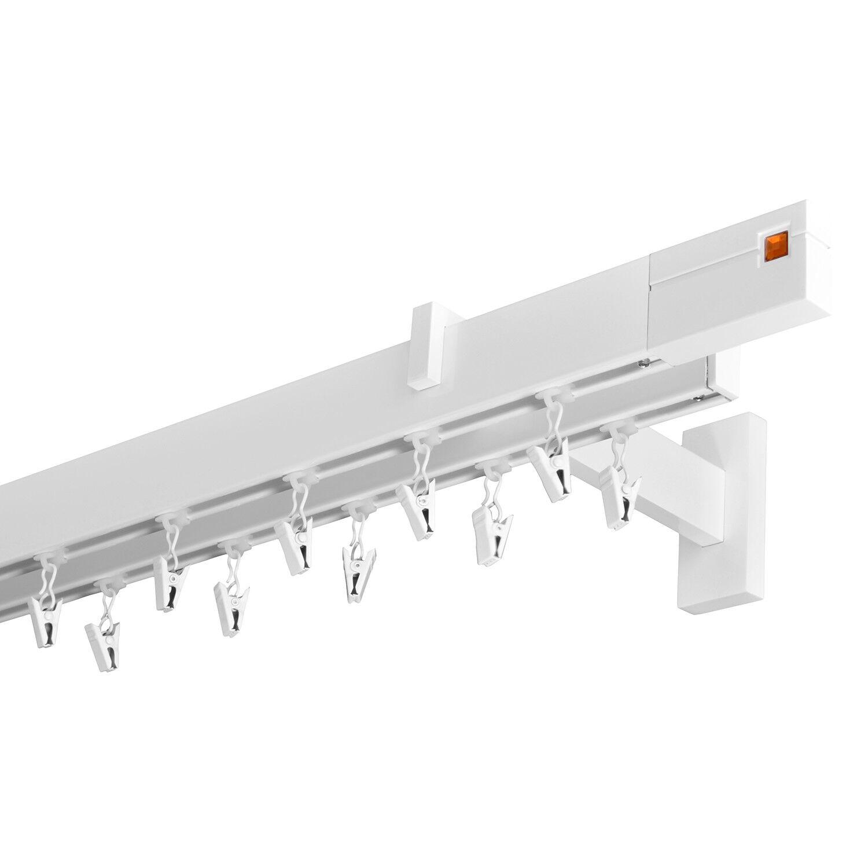 Gardinenstange Innenlauf 34 12mm 2-läufig in Weiß-Glänzend Aluminium Aluminium Aluminium (59) | Export  6561cb
