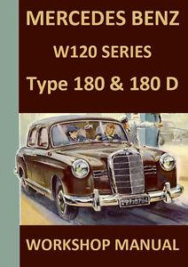 mercedes benz workshop manual w120 1953 1957 ebay rh ebay co uk Mercedes-Benz W123 Mercedes-Benz C230