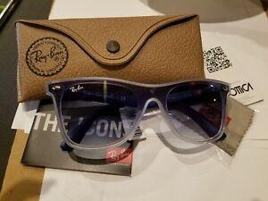 87371fc457 Image is loading Ray-Ban-Blaze-Wayfarer-Shield-Sunglasses-NWT-188-