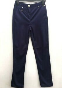 Ladies Ex PER UNA M/&S Chino Trousers Navy Blue or Beige Size 6-20