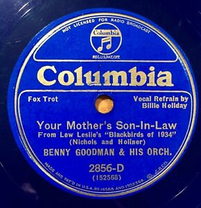 Benny-Goodman-Billie-Holiday-Your-Mother-039-s-Son-in-Law-Columbia-2856D-blue-wax