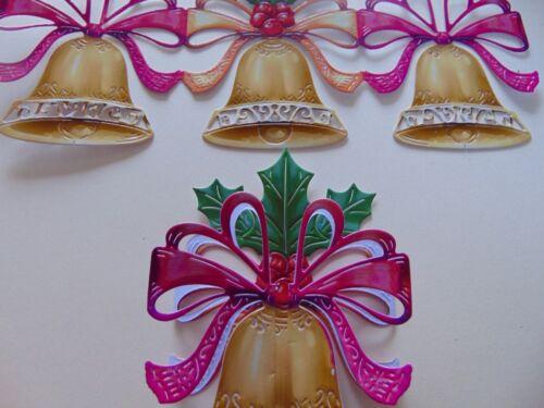 Tattered Lace Die Cuts 3d Noël Jingle Bells Harmony charisme x 5 Couleur