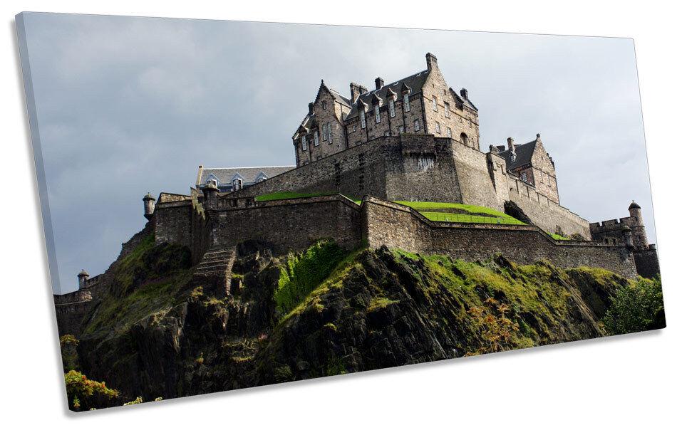 Edinburgh Castle Scotland Landmark PANORAMIC BOX FRAME CANVAS ART Picture