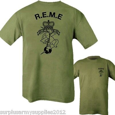 REME REGIMENT T-SHIRT MENS S-2XL ELECTRICAL MECHANICAL ENGINEERS BRITISH ARMY