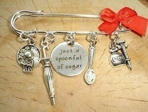 HANDMADE MARY POPPINS THEMED GIFT HANDBAG CHARMS KITSCH Spoon Full Of Sugar