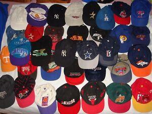 ca10a2c60 Vintage RARE 34 x Baseball Cap vintage MBL NFL NHL LA Raiders NY ...