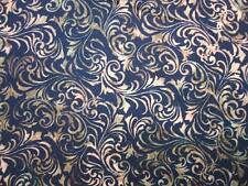 Scroll Antique Black Hoffman Bali Chop Batik Fabric Yard