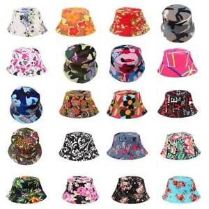 cb0561eaa79 Summer Boho Flower Floral Beach Hat Men Womens Sun Cap Bucket Hat ...