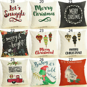 Am-KF-New-Merry-Christmas-Pillow-Case-Bed-Waist-Cushion-Cover-Cafe-Home-Decor