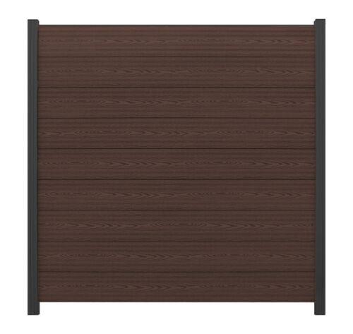 WPC Sichtschutz Zaun Windschutz Abschlussprofil Garten chocolate braun 180X183cm