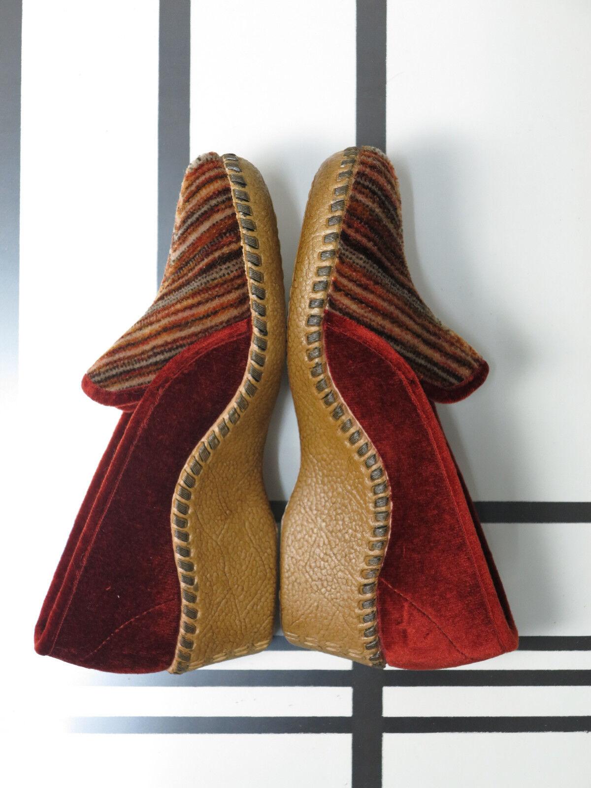 Kiel DIADEM Damen Slipper Hausschuhe 70er TRUE VINTAGE 70s house schuhe slippers