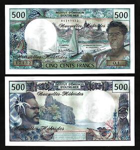 New Hebrides 500 Francs p-19c 1979 UNC Banknote
