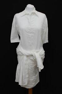 STELLA-MCCARTNEY-Ladies-White-Tie-Waist-Button-Up-Shirt-Dress-IT38-UK6-NEW