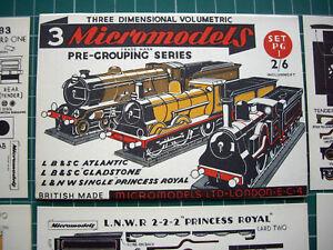 1952-Vintage-Original-Micromodels-PG1-Pre-Grouping-British-Locomotives-2-6d