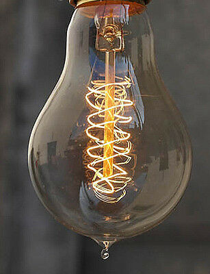 RARE Vintage A19SP Edison Spiral Filament vintage antique light bulb cool Lamp