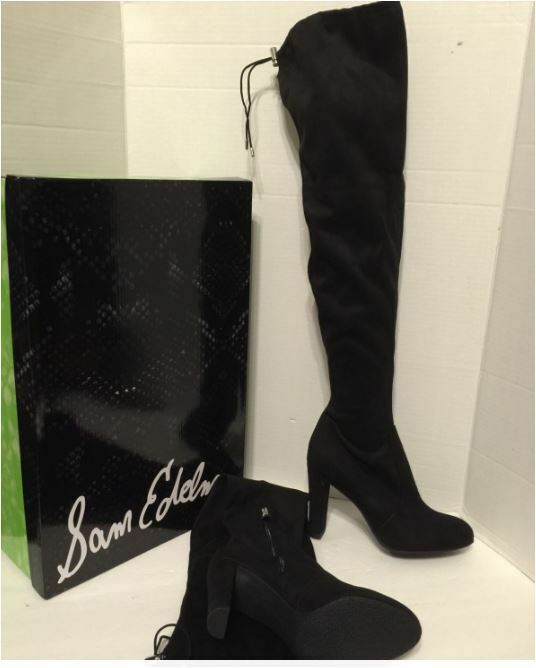 Sam Edelman Kent Microsuede Black Over the Knee Boots 10