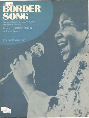 "ARETHA FRANKLIN ""BORDER SONG"" SHEET  MUSIC-PIANO/VOCAL/GUITAR/CHORDS-1969-NEW!! 