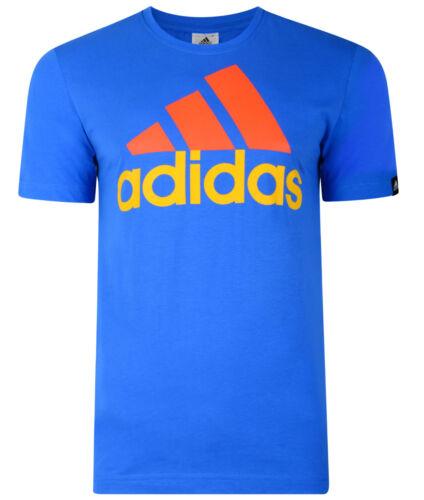 New Blue Top Men/'s Adidas Performance Logo T-Shirt