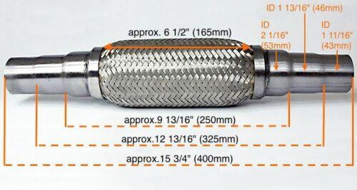 Für Citroen Uni Flexrohr Flexstück Flammrohr Hosenrohr Auspuff 45x48x55 400MM