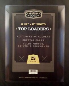 25-8-5x11-Ultra-CBG-Premium-Pro-Hard-Rigid-Toploaders-Photo-Topload-Holders-New