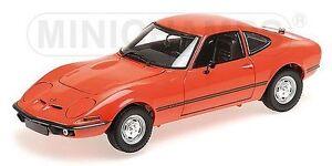 1-18-Minichamps-Opel-GT-J-1971-rouge-limitee-Edition-1-1002-Defectueux-CARTON