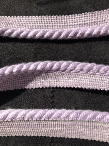 Solid Lavender Twisted Cord Trim with Lip BY THE YARD