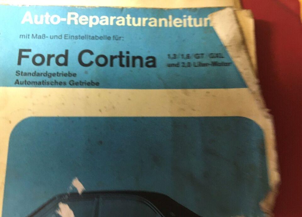Værkstedshåndbog til Ford Cortina 1,3  1,6. GT...
