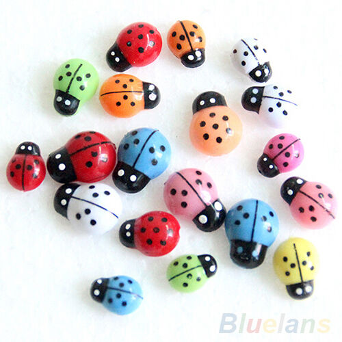 100X Beautiful Chic Mini 3D Wall Stickers Home Decor Toys Diy Ladybird Ladybug