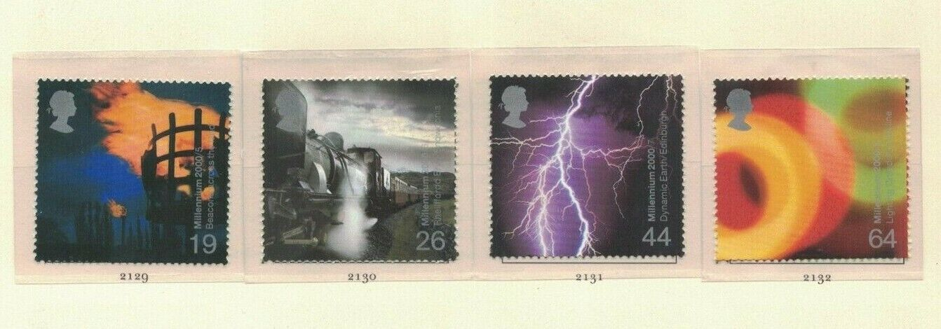 MGB4) Great Britain 2000 Millennium Projects II - Fire & Light 5-8 MUH