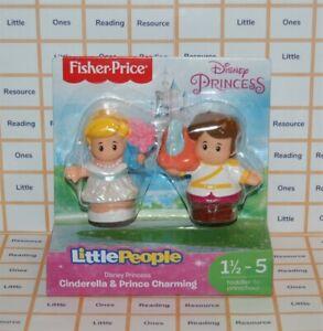 Fisher Price Little People Disney Princess CINDERELLA & PRINCE CHARMING Figure