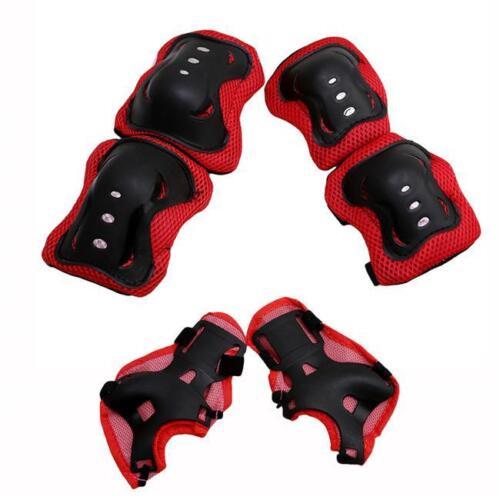 6 PCS Children Wrist Elbow Knee Pads Set Kids Sport Protective 3 Color Optional