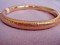 Oro Nuovo Average Round Textured Bangle 14k Rose Gold 10.5g Qvc